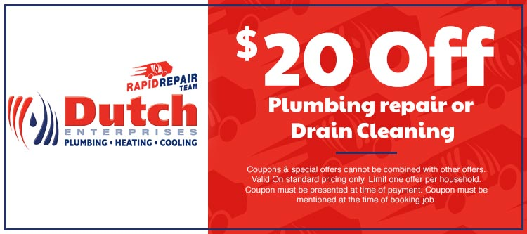discount on plumbing repair or drain cleaning in Cape Girardeau, MO